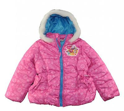 Shopkins Girls Pink Printed Puffer Coat Size 4 5 6 6X