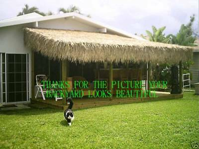 "30""x 8' Commercial Grade Tiki Hut Bar Mexican Palm Roof Thatch Runner"