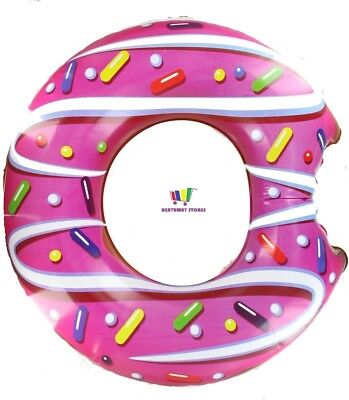 Inflatable Donut Doughnut Swim Ring Float Pool Party Blow Up Beach Swimming Gift