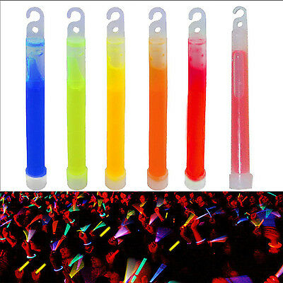 10PCS 6 Inch Glow Stick Party Camping Emergency Lights Chemical Glowsticks CHIC