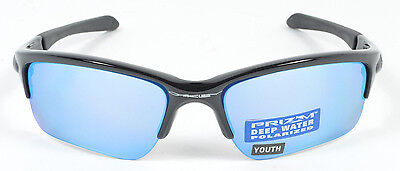 Oakley QUARTER JACKET Youth Polished Blk Prizm Deep H2O Polarized OO9200-16 NIB
