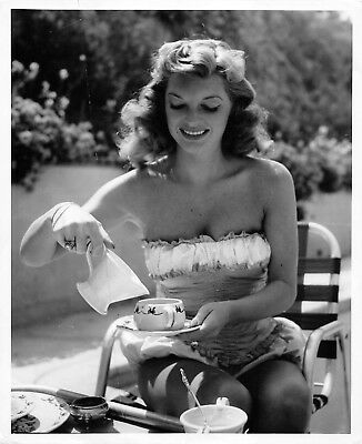 JULIE LONDON rare vintage 40s Earl Leaf proof cheesecake pinup photo
