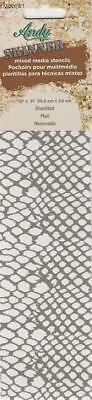"""Andy Skinner Mixed Media Stencil SHEDDED Snake Skin 12""""x3"""" Reusable Template"""