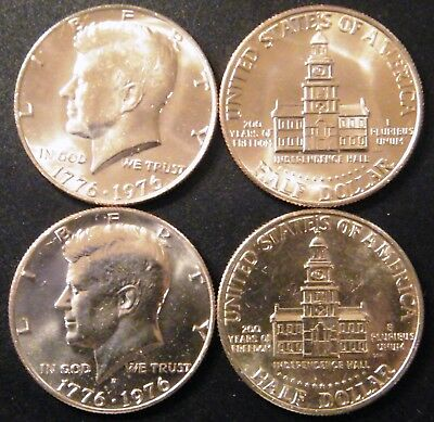 1976 P&D Kennedy Half Dollar UNC Clad P & D Cello from U.S. Mint Set 50 Cent PD