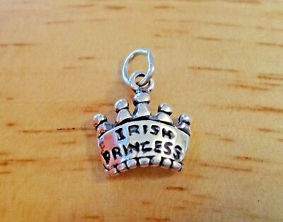 Sterling Silver 17x18mm says King on a Crown Homecoming Charm