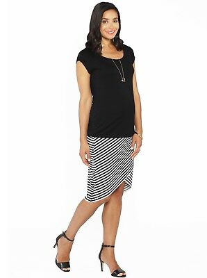 Reversible Maternity Petal Skirt in Stripes + FREE Top Outfit