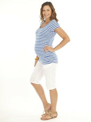 Maternity New Cotton maternity shorts in White