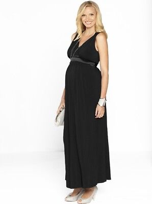 Sue Maternity Evening Party Dress in Black # 8030