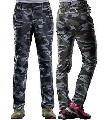 Outdoor Men/Womans Camo Soft shell Camping Tactical Cargo Pants Hiking Trousers