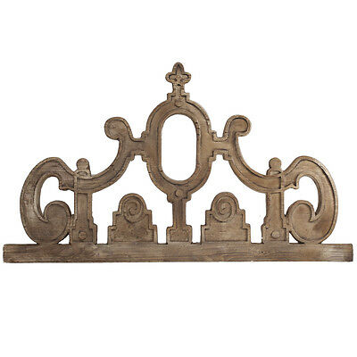 French Country Art Home Decor Hanging Vintage Style Pediment,46.5'' x 27''H.