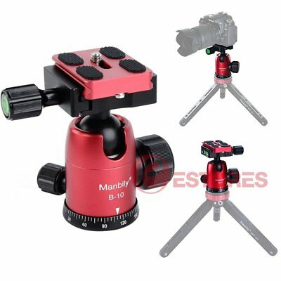 【AU】Manbily B-10 Aluminum Alloy Ball Head w/QR Plate For Tripod Head DSLR Camera