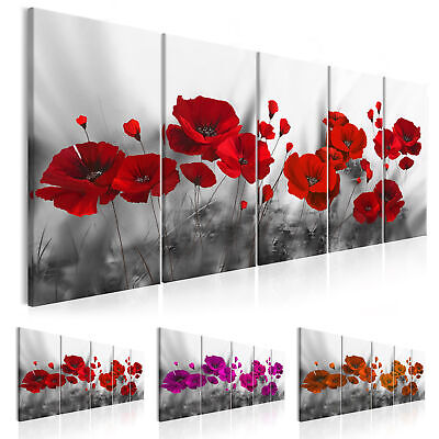 wandbilder xxl mohn blumen ausblick natur leinwand bilder wohnzimmer 030112 40 picclick de. Black Bedroom Furniture Sets. Home Design Ideas