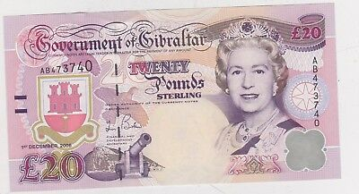 P33a GIBRALTAR £20 ADMIRAL NELSON NOTE DATED 2006 IN MINT CONDITION