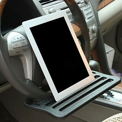 NEW Car Support Stand Table Clip Steering Wheel Cup Tray Drink Holder For iPad