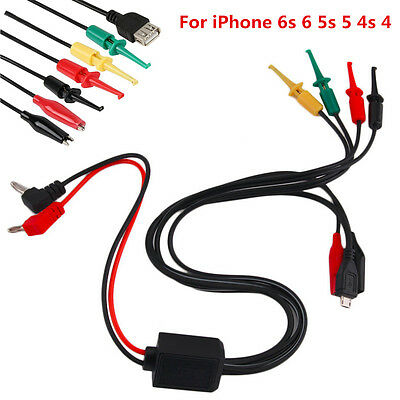 Phone Repair Power Supply Test Lead Cable For iPhone 6s 6 5s 5 4s 4 With USB