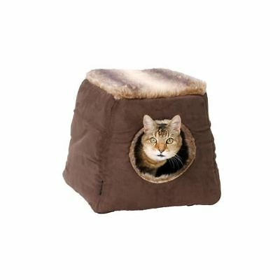 House Of Paws Faux Arctic Suede 2 in 1 Cat Bed