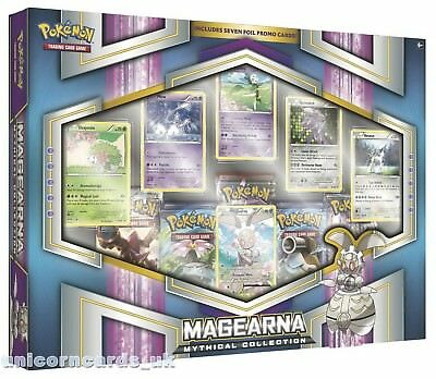 Pokemon TCG: Mythical Pokemon Collection - Magearna :: 5 Booster Packs + 7 Promo