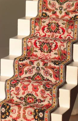 Dolls House Emporium Red & Cream Stair Carpet 12th Scale 5059