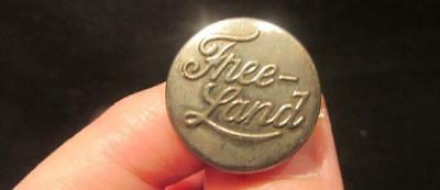 Free-Land Vintage Early 1900s 20.5mm Silvertone Clothing Brand Overall Button