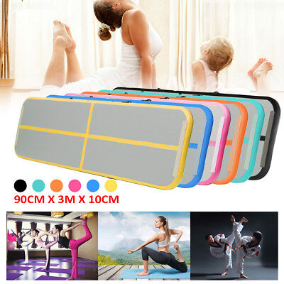 Air Gymnastic Track Floor Home Tumbling Mat Inflatable Pads Tumbling Track GYM