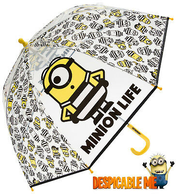 Kids Boys Girls Despicable Me 3 Minions Bubble Dome Umbrella Brolly 888