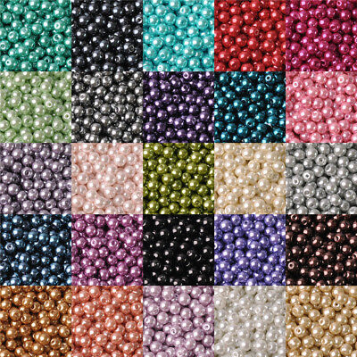 Top Quality 4mm 6mm 8mm 10mm 12mm Czech Glass Pearl Round Loose Spacer Beads