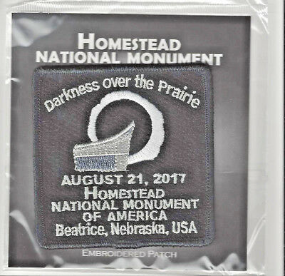 Homestead National Monument Souvenir Patch - Great American Eclipse Patch