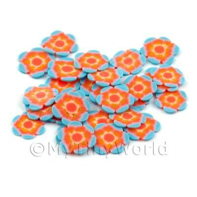Nail Art dns13 2x 50 Orange Flying Butterfly Cane Slices