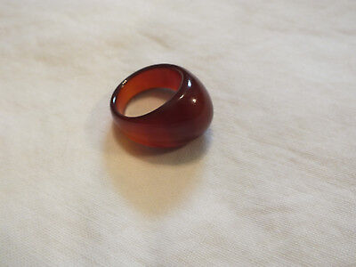 Beautiful Chunky Cocktail Ring Amber Brown Size 7 1/2 UNIQUE