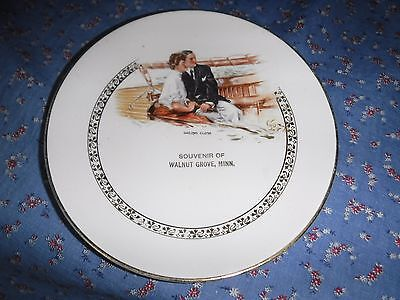 Old Plate Souvenir of Walnut Grove Minn Sailing Close by Howard Chandler Christy