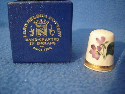 Lord Nelson Pottery Staffordshire china floral design Thimble / box
