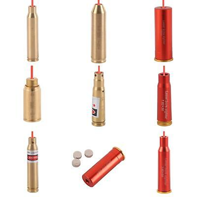 Red Dot Laser Brass Cartridge Bore Sighter Boresight w/Battery For Hunting Scope