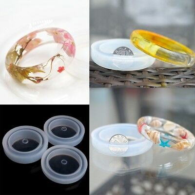 Round Silicone Mold Casting Mould For Resin Bangle Bracelet Jewelry DIY Tool Hot