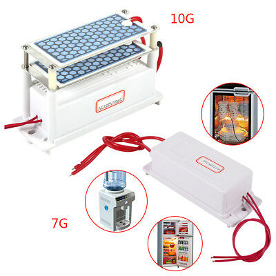 220V 7/10G Mini Ozone Generator Integrated Ceramic Plate Air Ozonizer Machine