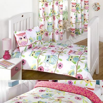 "Owl & Friends Curtains 72"" & Duvet Cover Sets - Junior / Bundle, Single & Double"