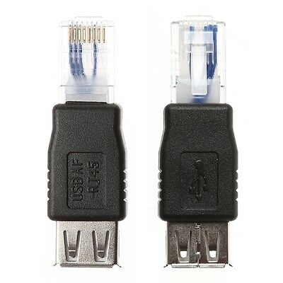USB Type A Female To Ethernet Internet RJ45 Male Connector Converter Adapter