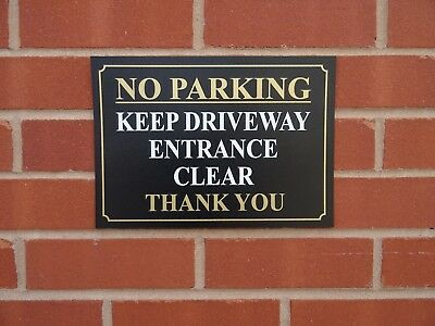 No Parking Keep Driveway Entrance Clear Sign / Sticker - All Materials & Sizes.