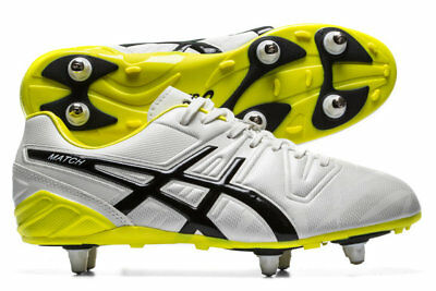 Asics Match ST White Black 151721 0190 Rugby Boots Size UK  7 8 9 10 11 12