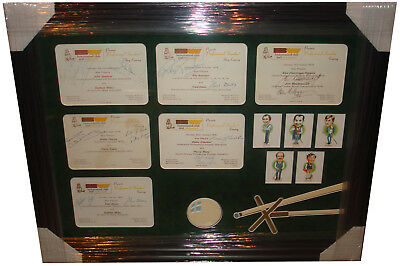 Snooker SIGNED AUTOGRAPH by 12 Legends inc. Alex Higgins 1970's  AFTAL UACC RD