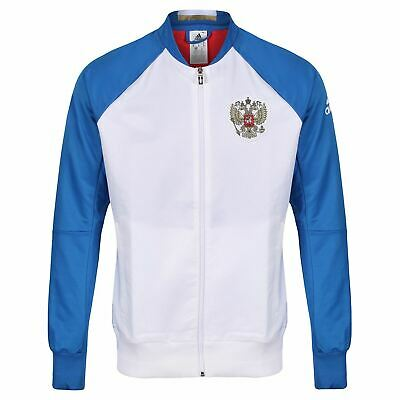 ADIDAS RUSSIA NATIONAL FOOTBALL TEAM WHITE ANTHEM JACKET