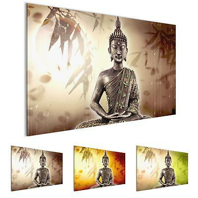 bild buddha auf vlies leinwand xxl bilder wandbild feng shui eur 19 98 picclick de. Black Bedroom Furniture Sets. Home Design Ideas