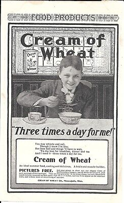 1900 Cream Of Wheat Cereal Three Times A Day For Me Ad