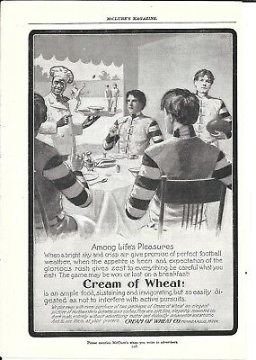 Old Cream Of Wheat Cereal Football Players Breakfast Ad
