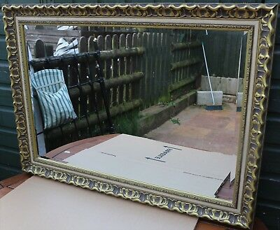 Fine Quality Looking Very Large Gilt Framed Bevel Edged Wall Mirror
