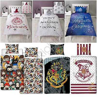 Harry Potter Duvet Cover Sets Kids Muggles, Crest - Single & Double