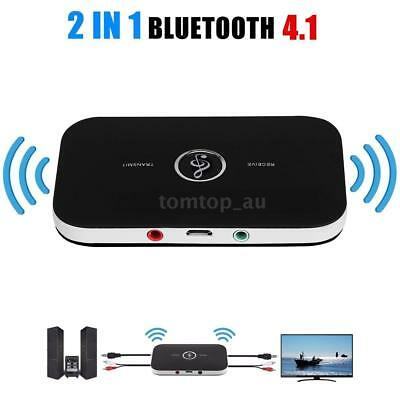 Bluetooth Wireless 2 in1 Audio Transmitter Receiver 3.5MM RCA HIFI Music Adapter