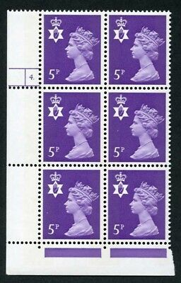 NI18 5p Reddish Violet Cyl 4 Dot U/M Block 6 2 Phosphor Bands