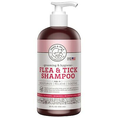 Flea and Tick Shampoo for Dogs Cats Conditioner  Scrub Cleaning Bath Shower Wash