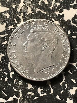 1944 Romania 500 Lei Lot#7827 Silver!