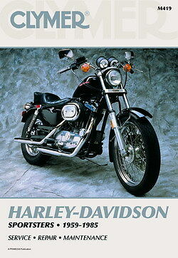 Harley-Davidson Sportster 883 1200 XLH1000 1959-1985 Clymer Manuale M419 NUOVO